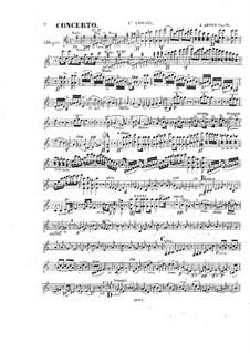 Концерт для скрипки с оркестром ля минор, Op.18: Партии by Александр Жозеф Арто