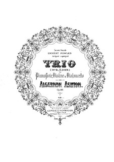 Фортепианное трио No.2 ля мажор, Op.88: Партитура by Алджернон Эштон