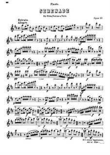 Серенада ре мажор для флейты, скрипки и альта, Op.25: Партия флейты by Людвиг ван Бетховен