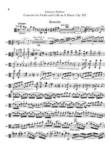 Концерт для скрипки, виолончели с оркестром ля минор, Op.102: Партия альта by Иоганнес Брамс