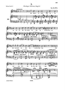 Четыре серьёзных напева, Op.121: Nr.2 Ich wandte mich und sahe an alle by Иоганнес Брамс
