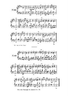 Choix de chorals: Choral No.66 by Иоганн Себастьян Бах