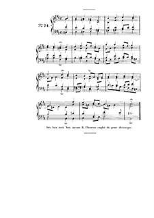 Choix de chorals: Choral No.71 by Иоганн Себастьян Бах