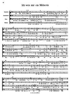 Ich weis mir eine Mülnerin: Ich weis mir eine Mülnerin by Арнольд фон Брук