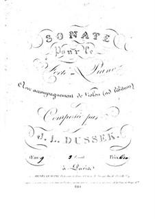 Соната для фортепиано и скрипки ad libitum No.3 ре мажор, Op.9 Craw 59: Партия фортепиано by Ян Ладислав Дуссек