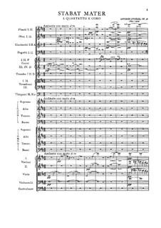 Стабат Матер, B.71 Op.58: Партитура by Антонин Дворжак