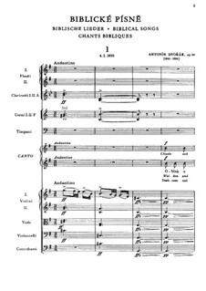 Библейские песни, Op.99: Партитура, B.189 by Антонин Дворжак