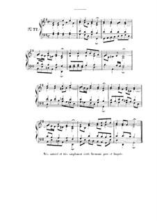 Choix de chorals: Choral No.77 by Иоганн Себастьян Бах