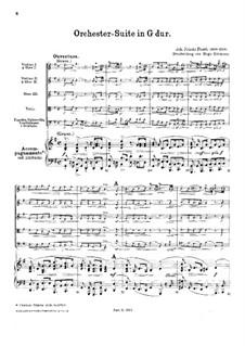 Оркестровая сюита соль мажор, FaWV K:G5: Оркестровая сюита соль мажор by Иоганн Фридрих Фаш