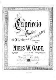 Каприччио для скрипки и фортепиано ля минор: Партитура by Нильс Вильгельм Гаде