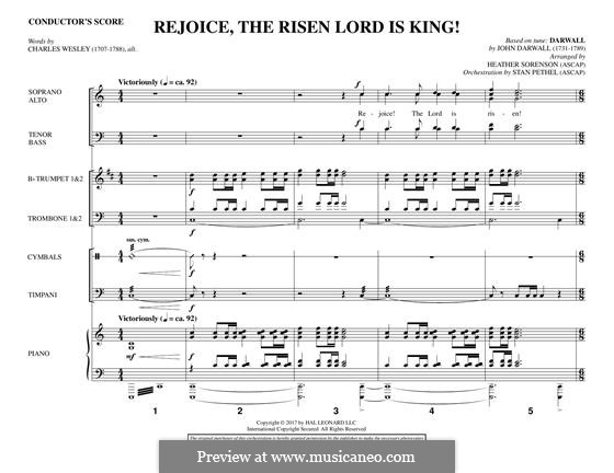 Rejoice, the Risen Lord is King!: Партитура by John Darwall