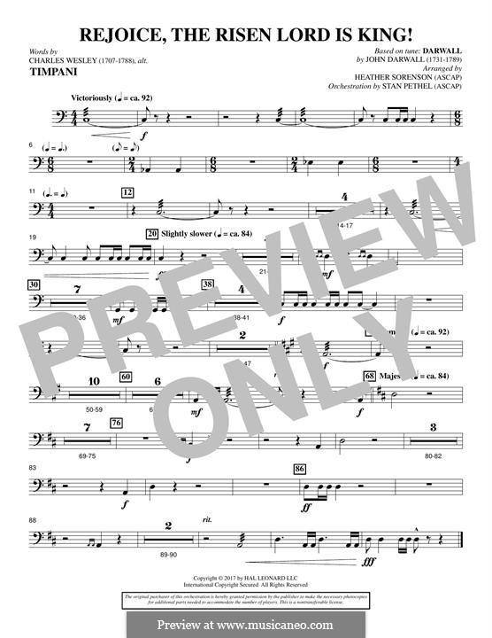 Rejoice, the Risen Lord is King!: Партия литавр by John Darwall