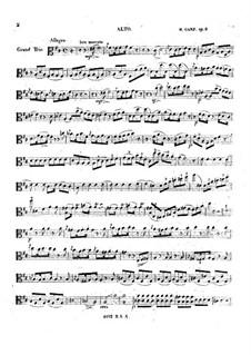 Большое трио для струнных ре мажор, Op.8: Партия альта by Moritz Ganz