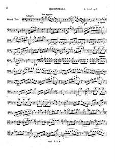 Большое трио для струнных ре мажор, Op.8: Партия виолончели by Moritz Ganz
