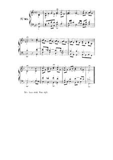 Choix de chorals: Choral No.95 by Иоганн Себастьян Бах