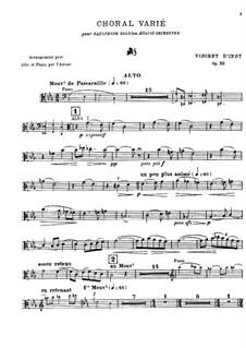 Choral varié for Saxophone and Orchestra, Op.55: Сольная партия by Венсан д' Энди