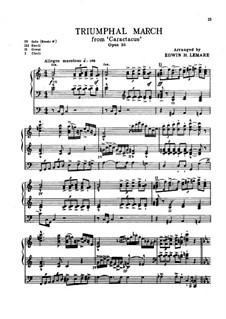 Каратак (Кантата), Op.35: Триумфальный марш, для органа by Эдуард Элгар