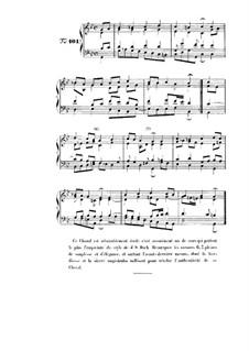 Choix de chorals: Choral No.101 by Иоганн Себастьян Бах