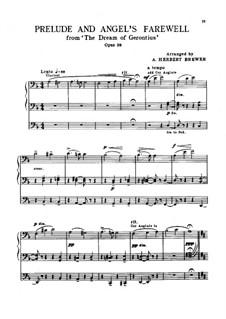 Сон Геронтия, Op.38: Прелюдия и прощание Ангела, для органа by Эдуард Элгар