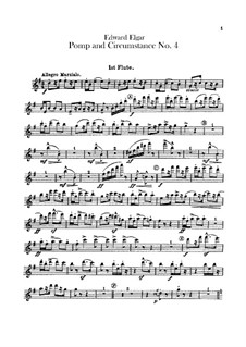 Марш No.4: Партии флейт by Эдуард Элгар