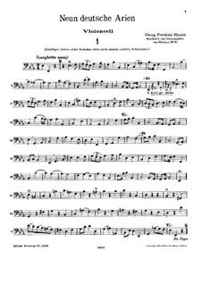 Девять немецких арий, HWV 202-210: Партия виолончели by Георг Фридрих Гендель