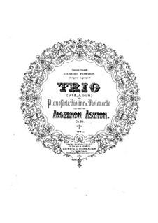 Фортепианное трио No.2 ля мажор, Op.88: Партитура, Партии by Алджернон Эштон