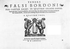 Falsi Bordoni for the Psalms: Партия тенора by Джамматео Азола