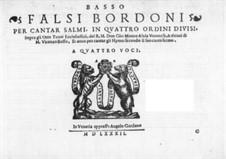 Falsi Bordoni for the Psalms: Партия баса by Джамматео Азола