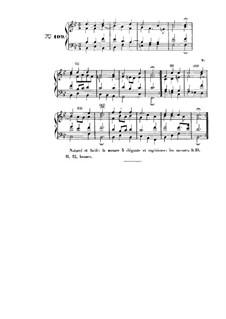 Choix de chorals: Choral No.109 by Иоганн Себастьян Бах