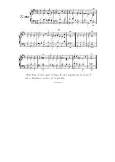 Choix de chorals: Choral No.111 by Иоганн Себастьян Бах