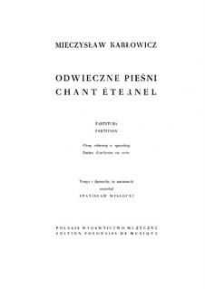 Предвечные песни, Op.10: Предвечные песни by Мечислав Карлович