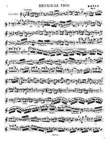 Три струнных трио, Op.5: No.2 – партия скрипки by Александр Пьер Франсуа Боэли