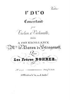 Концертные дуэты для скрипки и виолончели: Дуэт No.1 – партия скрипки by Антуан Борер
