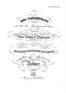 Концертный дуэт для скрипки и виолончели: Партия виолончели by Антуан Борер