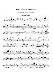 Дайте мне слезы: Для виолончели и фортепиано – партия виолончели by Георг Фридрих Гендель