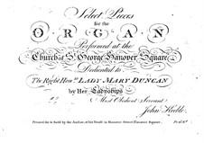 Избранные пьесы для органа: No.1-6 by John Keeble