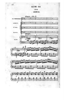 Zerline, ou La corbeille d'oranges: Акт III, клавир с вокальной партией by Даниэль Обер