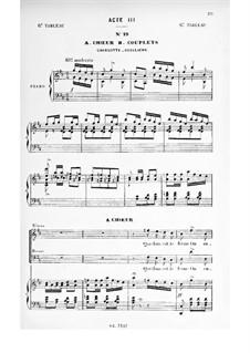 La cigale et la fourmi: Акт III. Аранжировка для голосов и фортепиано by Эдмон Одран
