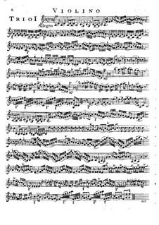 Шесть струнных трио, Op.14: Партии скрипки by Луиджи Боккерини