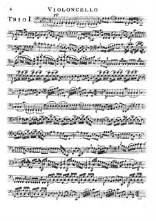 Шесть струнных трио, Op.14: Партия виолончелей by Луиджи Боккерини