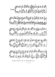 Choix de chorals: Choral No.137 by Иоганн Себастьян Бах