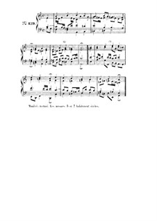 Choix de chorals: Choral No.139 by Иоганн Себастьян Бах
