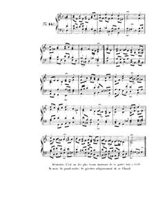 Choix de chorals: Choral No.143 by Иоганн Себастьян Бах