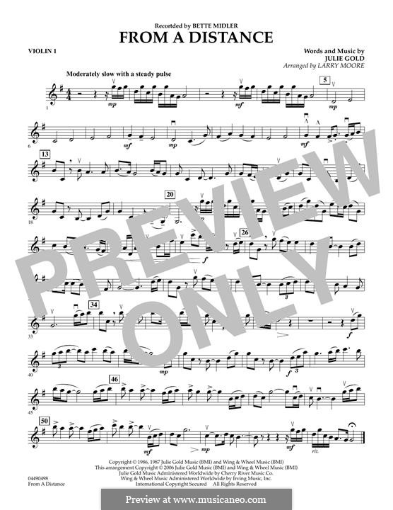 From a Distance: Violin 1 part by Julie Gold