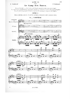 Le vénitien: Act II, Scene I, for Soloists, Choir and Piano by Albert Cahen
