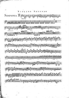 Симфония No.1 ре мажор, G.503 Op.12: Скрипка II by Луиджи Боккерини
