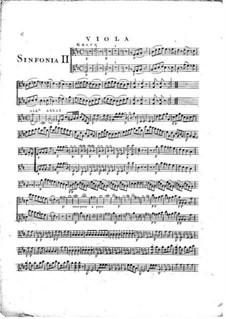 Симфония No.1 ре мажор, G.503 Op.12: Партия альтов by Луиджи Боккерини