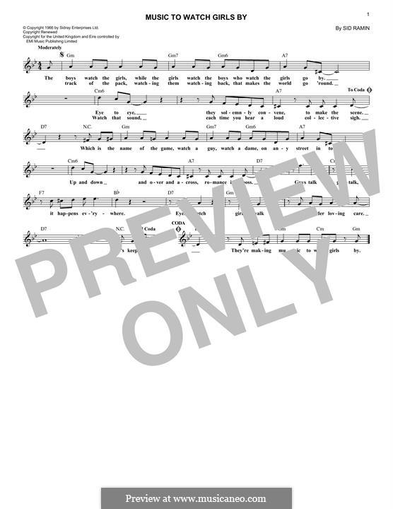 Music to Watch Girls By: Для клавишного инструмента by Anthony Velona, Sidney Ramin