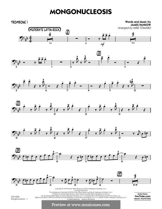 Mongonucleosis (Chicago): Trombone 1 part by James Pankow