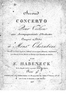 Концерт для скрипки с оркестром No.2 ми мажор: Скрипка - сольная партия by Франсуа Антуан Абенек